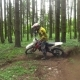 Enduro Motorcyclist Makes an Aggressive Turn. - VideoHive Item for Sale