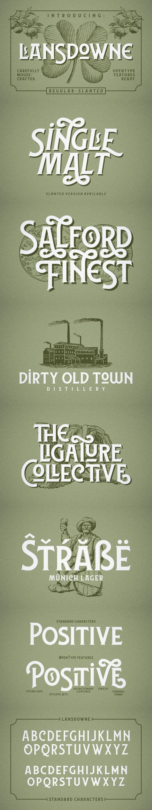 Lansdowne - Serif Fonts