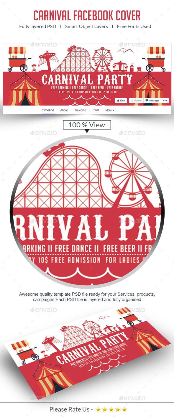 Mardi Gras - Carnival Elegant Facebook Cover - Facebook Timeline Covers Social Media