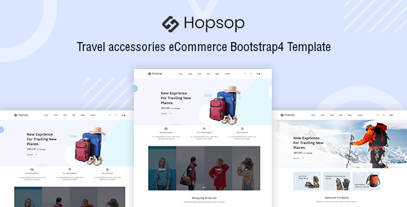 Hopsop - Travel Accessories eCommerce Template - Travel Retail