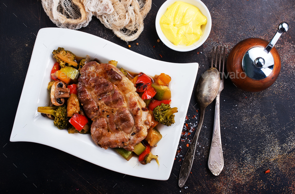 meat with vegetatbles - Stock Photo - Images
