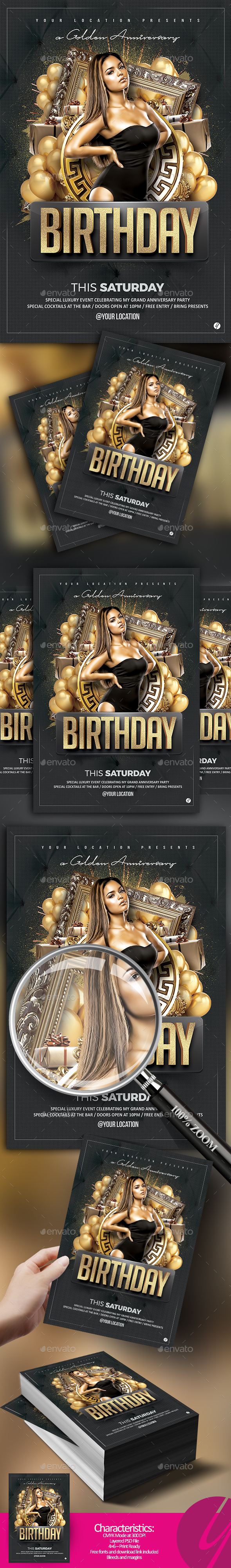 Birthday Anniversary Flyer - Clubs & Parties Events