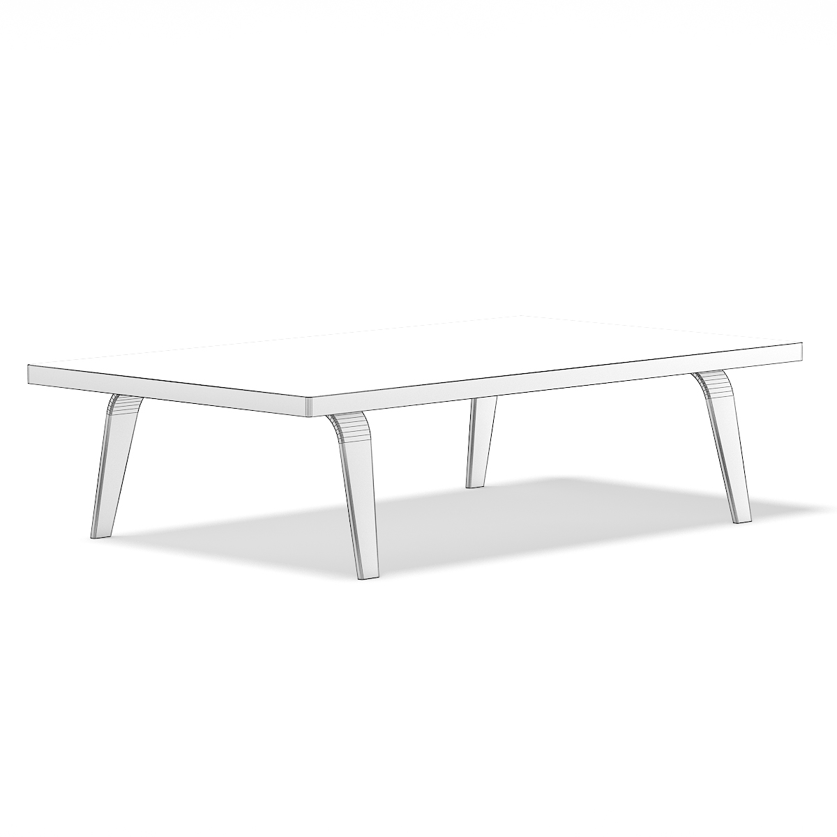 Wooden Coffee Table 3D Model