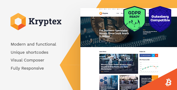 Kryptex | Cryptocurrency & Mining WordPress Theme - Technology WordPress