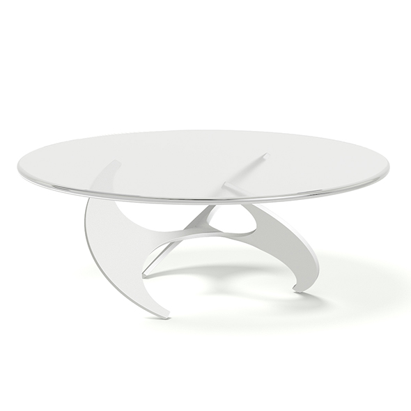 Modern Glass and Metal Coffee Table 3D Model - 3DOcean Item for Sale