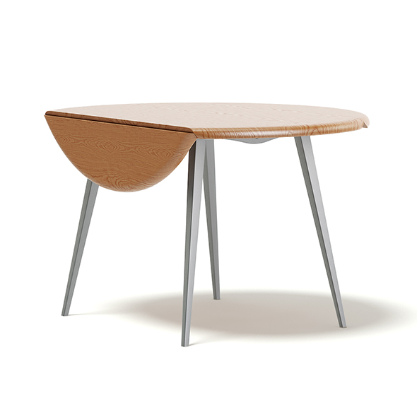 Round Folding Table 3D Model - 3DOcean Item for Sale