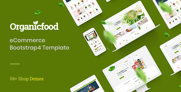 OrganicFood - ECommerce Bootstrap4 Template