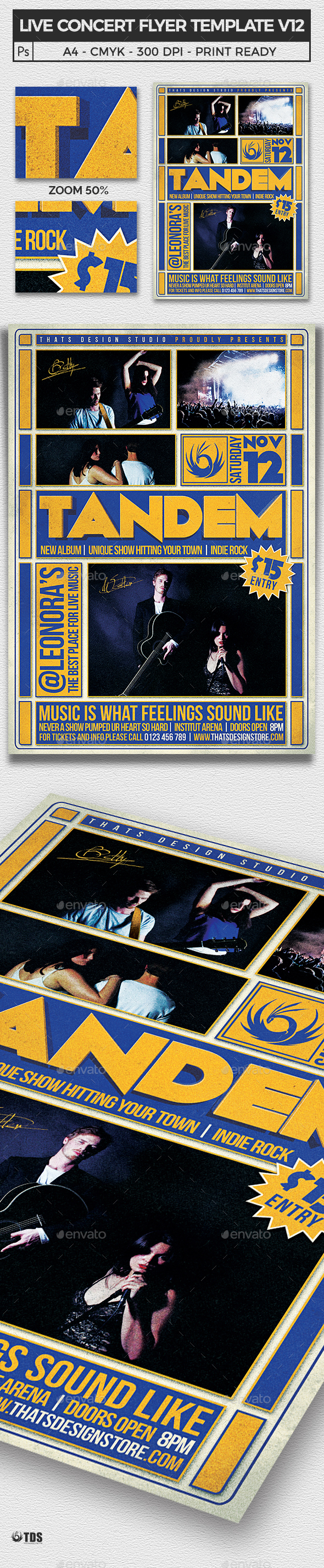 Live concert Flyer Template V12 - Concerts Events