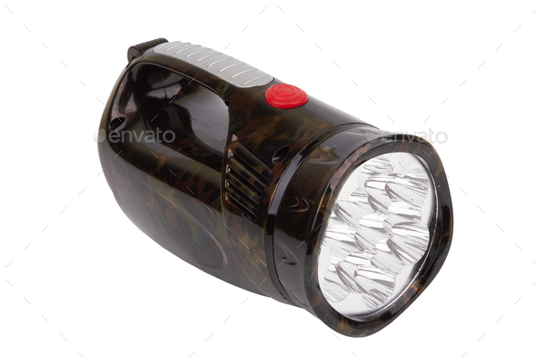 flashlight on a white - Stock Photo - Images