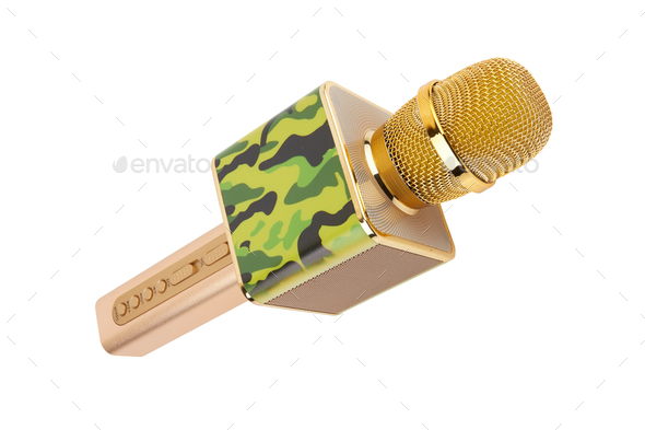 Microphone isolated on white - Stock Photo - Images