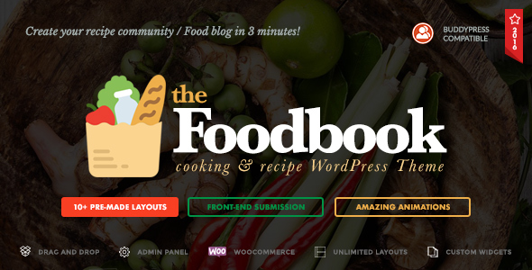 Foodbook - Recipe Community, Blog, Food & Restaurant Theme - Blog / Magazine WordPress