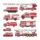 Fire Engine Vector Firefighting Emergency Vehicle - GraphicRiver Item for Sale