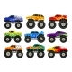 Set of Monster Trucks - GraphicRiver Item for Sale