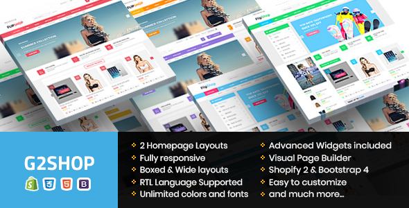 G2Shop - Responsive & Multipurpose Sectioned Bootstrap 4 Shopify Theme