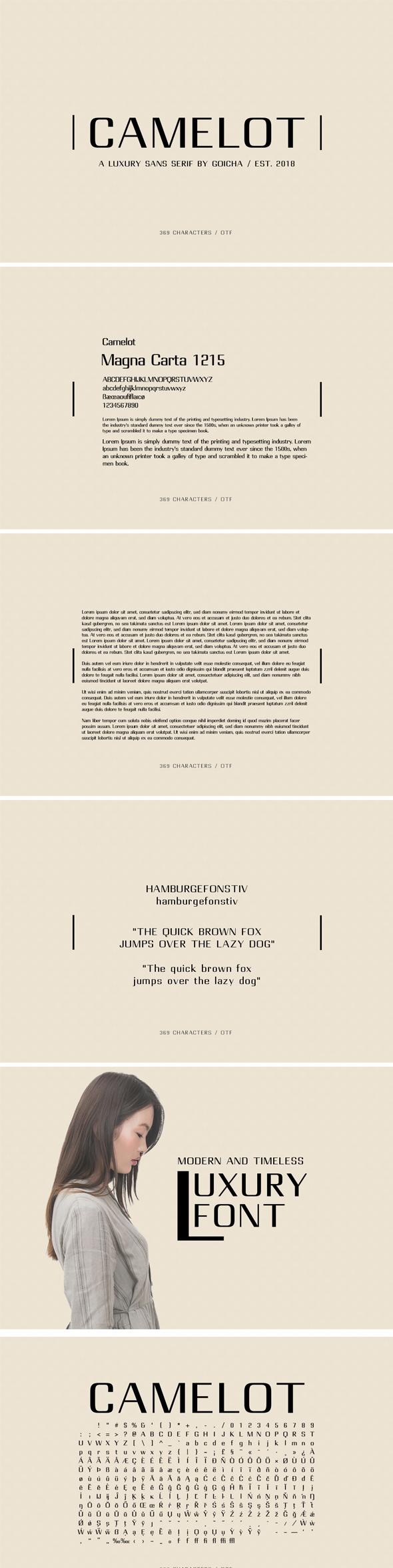 Camelot - Luxury Sans Serif - Sans-Serif Fonts