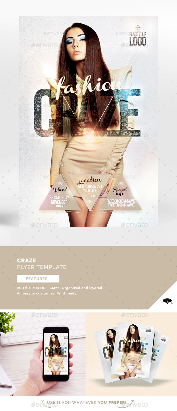 Fashion Craze Flyer Template - Flyers Print Templates