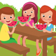 Children Eat a Watermelon - GraphicRiver Item for Sale