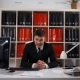 Portrait of Young Happy Businessman in Office - VideoHive Item for Sale