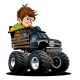 Cartoon Monster Truck with Driver - GraphicRiver Item for Sale