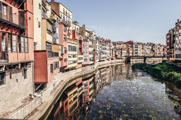 Houses in Girona - Stock Photo - Images