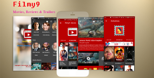Filmy9 - Movies, Reviews & Trailers | Material Design | In-App Purchase | Admob Ads | Firebase Alert            Nulled