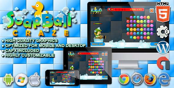 Soap Ball Craze - HTML5 Construct Physic Game - CodeCanyon Item for Sale