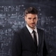 Portrait of Scientist Man Standing Near Mathematical Equations, Formula - VideoHive Item for Sale