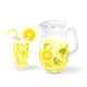 Lemonade in a Jug and a Glass