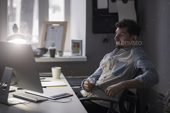 Man thinking about solution. - Stock Photo - Images