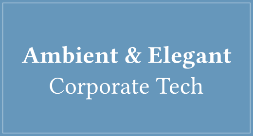 Ambient & Elegant Corporate Tech