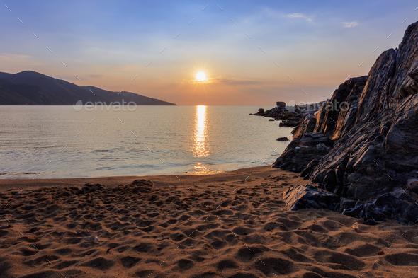 stratoni beach, greece - Stock Photo - Images