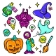 Halloween Symbols - Vector Isolated Stickers Set - GraphicRiver Item for Sale