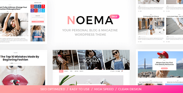 Image of Noema - Personal WordPress Blog Theme