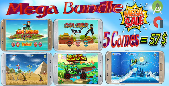 Summer Discount- Mega Bundle 5 games (Android Studio) - CodeCanyon Item for Sale