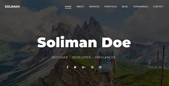 Image of Soliman - Creative Portfolio Template