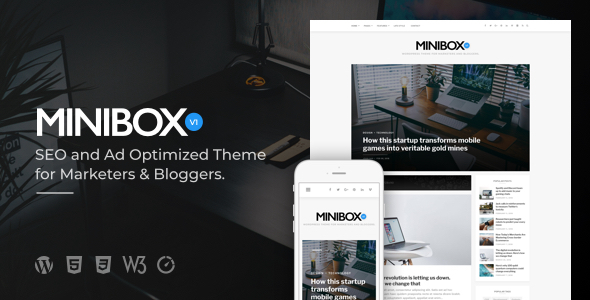 Minibox | Optimized WordPress Blog Theme for Bloggers and Marketers
