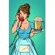 Waitress with Mug of Beer