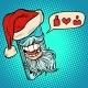 Santa Claus Puts Likes Through Smartphone