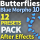 Butterfly Blue Morpho 10 - VideoHive Item for Sale