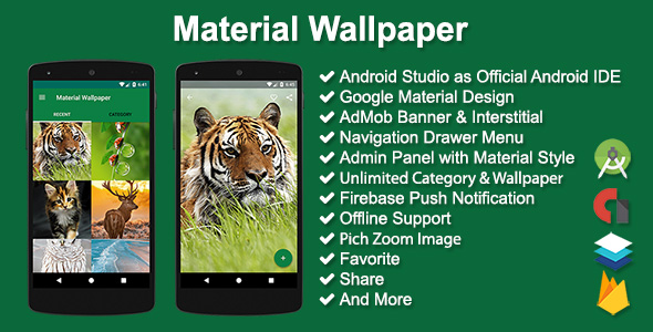 Material Wallpaper - CodeCanyon Item for Sale