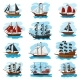 Piratic Ship Vector Pirating Boat Vessel Sailboat - GraphicRiver Item for Sale