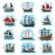 Piratic Ship Vector Pirating Boat Vessel Sailboat