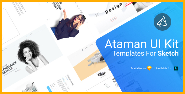 Ataman UI Kit - Templates For Sketch - Sketch Templates