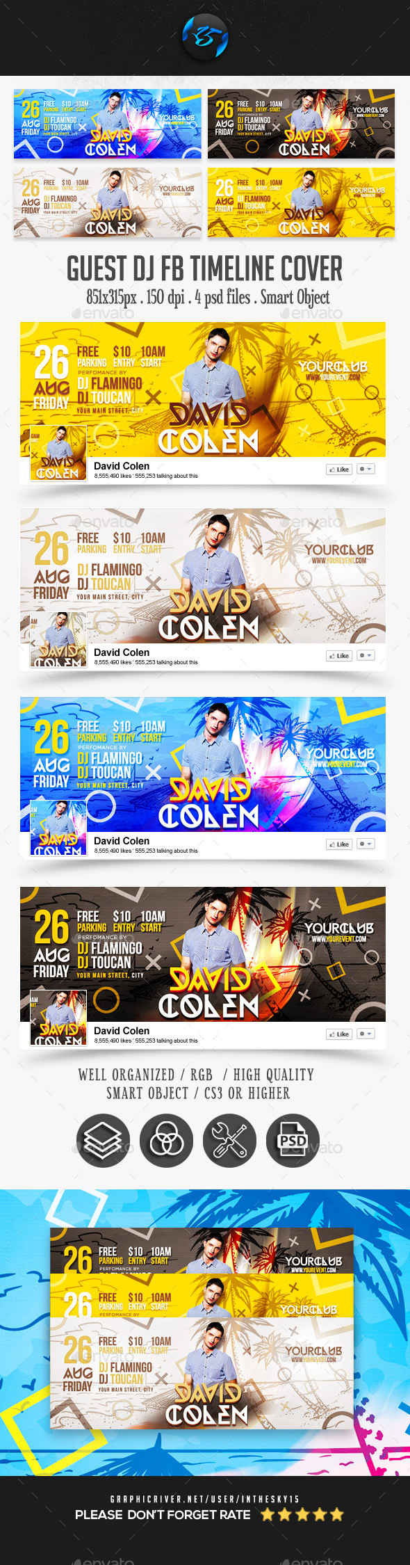 Guest DJ FB Timeline Covers - Facebook Timeline Covers Social Media