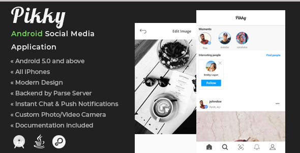 Pikky | Android Social Media Application - CodeCanyon Item for Sale