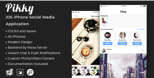 Pikky | iOS iPhone Social Media Application            Nulled