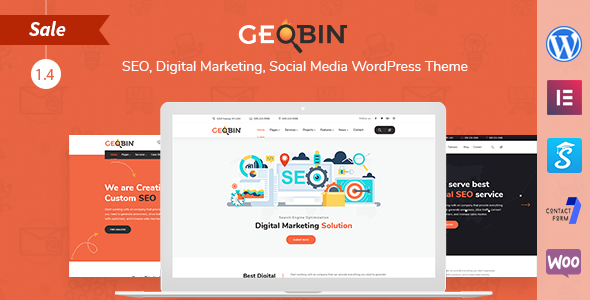 GeoBin | Social Media, Digital Marketing Agency, SEO WordPress Theme - Marketing Corporate