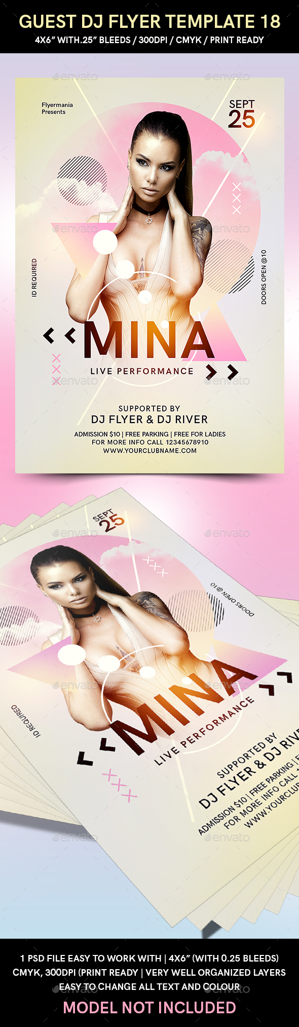 Guest DJ Flyer Template 18 - Flyers Print Templates