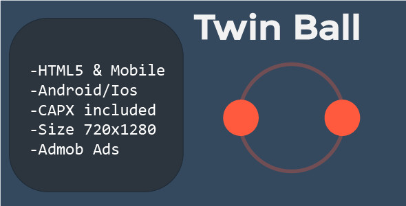 Twin Ball (HTML5 + Mobile Version) Construct 2            Nulled
