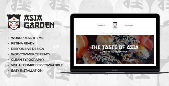 Asia Garden | Asian Food Restaurant WordPress Theme - Restaurants & Cafes Entertainment